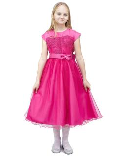 Dystyngowana sukienka 122-146 Marisa amarant