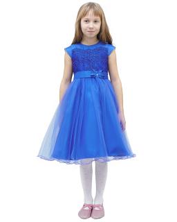 Szykowna sukienka 122-146 Marisa chabrowy