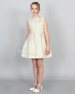 Sukienka z pięknym kwiecistym wzorem 140-164 Tina złoto