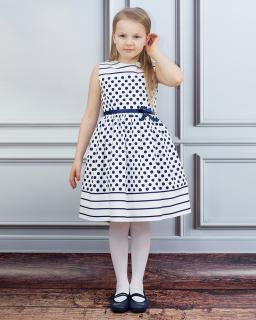 Letnia sukienka w paski i groszki 134-152 Alicja