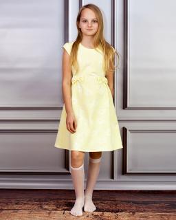 Słoneczna sukienka z kokardkami 122-152 Irys