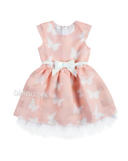 Subtelna sukienka z kokardą 104-140 Mia brzoskwiniowa