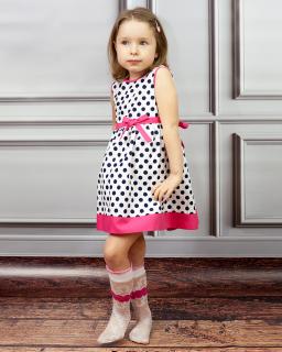 Urocza sukienka Olena 80-128 W grochy