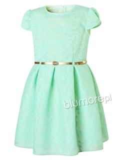 Strojna sukienka 134-158 Nora mięta