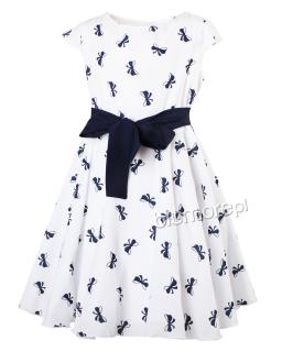 Prosta i elegancka sukienka 128-158 Lucyna biały
