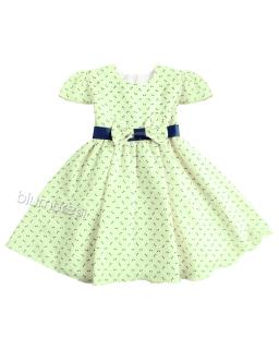 Subtelna sukienka z kokardkami Sonia 86-122 Limonkowy