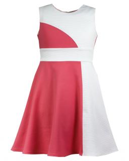 Nowomodna sukienka 140-158 Sally koral plus krem