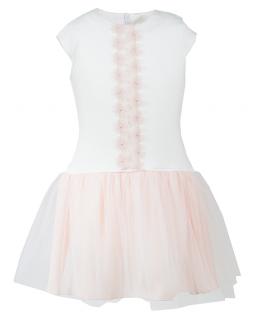 Sukienka w stylu baletnicy 134-152 Wendy krem plus łosoś