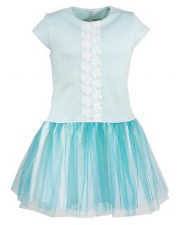 Pastelowa sukienka 134-152 Wendy miętowy