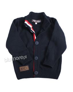 Chłopięcy sweterek zapinany 92-128 CH-314 Granat