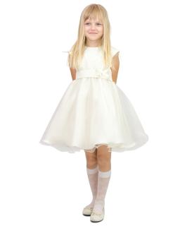 Efektowna sukienka dla damy 116-134 Diana kremowy