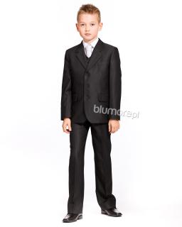 Młodzieżowy garnitur z kamizelką 170 Bartosz ciemny grafit