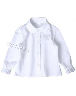 Biała bluzka z kołnierzykiem 98 - 128 Ewa biała