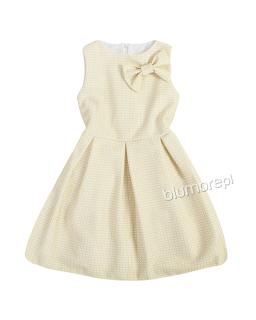 Sukienka z połyskującą nitką 140-158 Tina złoty plus beż