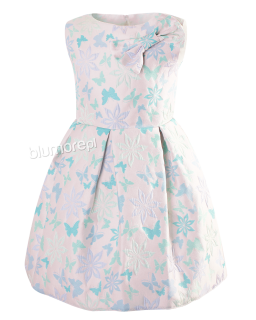 Kolorowa sukienka z pastelowymi motylkami 128-158 Tina multikolor