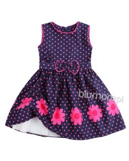 Ujmująca przewiewna sukienka 110-140 Margaretka kolorowa