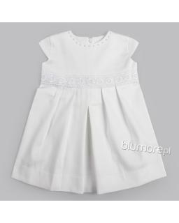 Letnia sukienka dla dziewczynki 68-86 Malwina biały