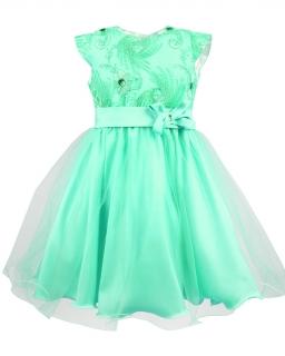 Rozłożysta tiulowa sukienka 116-134 Diana zielony