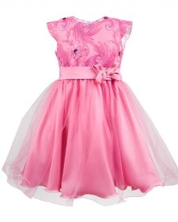 Zjawiskowa sukienka z tiulem 116-140 Diana różowy