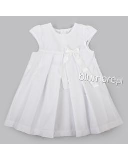 Sukienka dla małej dziewczynki 80-86 Aurelka biały