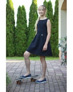 Wizytowa sukienka z zawieszką 122-164 Wiki 2 czarny