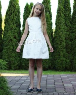 Piękna haftowana sukienka 134-158 Tina ecru