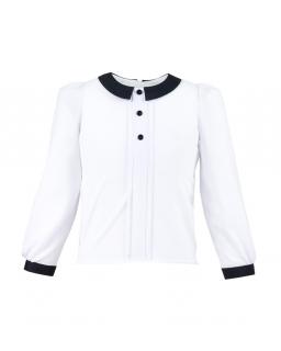 Szkolna biała bluzka 122-158 Aga biel plus czerń