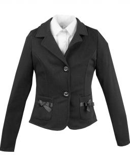 Dziewczęcy elegancko sportowy żakiet 122-158 Anetka czarny