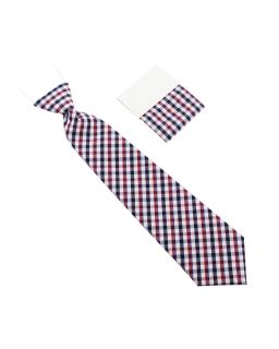 Chłopięcy krawat w kratkę na 28 cm