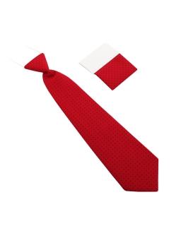 Elegancki granatowy krawat chłopięcy 28 cm