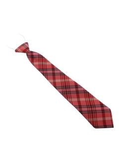Krawat w czerwoną kratkę dla chłopca 32cm