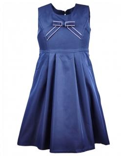 Elegancka sukienka z kieszonkami 122-140 Oriena granat