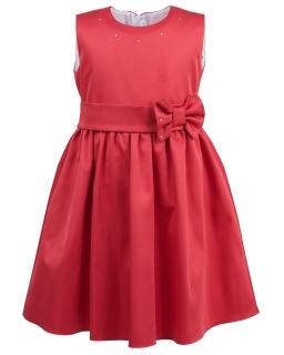 Śliczna sukienka bez rękawków 110-128 Tesia koralowy