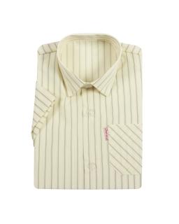 Elegancka koszula w prążki 92-98 Żółty