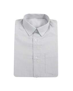 Gustowna koszula prążkowana 104-122 Jasny popiel