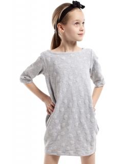 Efektowna sukienka w serca KI020 Trzy kolory