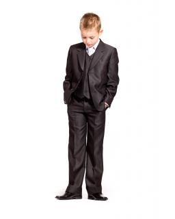 Eleganckie grafitowe spodnie dla chłopca 140 - 164