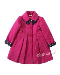 Uroczy płaszczyk z modną kokardką 86-134 Bella amarant