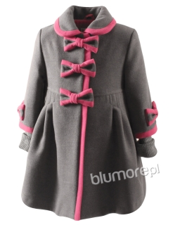 Wyszukany płaszczyk na zimę dla dziewczynki 104-134 Beti szary