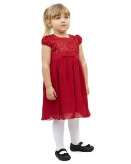 Okazjonalna sukienka z żorżety 86-110 Ludwika czerwień