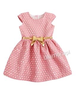 Urocza sukienka dla dziewczynki 104-140 Cindy róż plus złoto
