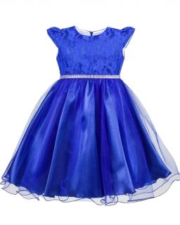 Sukienka dla małej damy 80-128 Aradia chabrowy