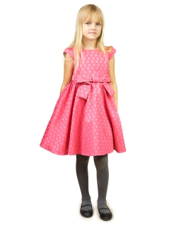 Subtelna sukienka z kokardą 80-122 Evita koralowa