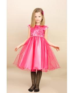 Urokliwa sukienka z tiulem 80-128 Aradia różowy