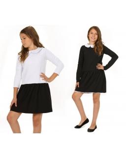 Sukienka z białym kołnierzykiem 116-152/158 KR20