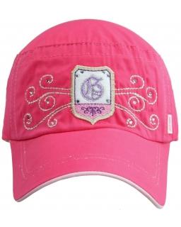 Różowa czapka z daszkiem dla dziewczynki 50 - 56
