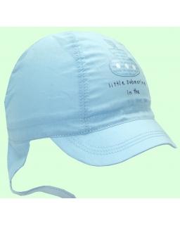 Letnia czapka dla chłopca z daszkiem i nausznikami 42 - 48