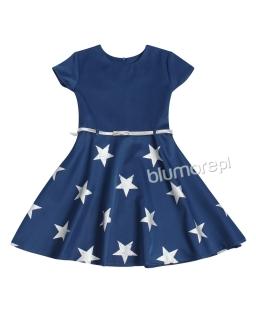Niezwykła sukienka w gwiazdy 122-146 Star granat