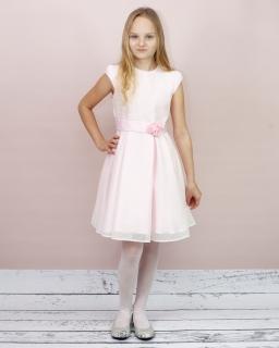 Urocza sukienka dla dziewczynki 134-152 Suzan jasny róż
