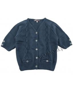Granatowy zapinany sweter dla dziewczynki 110 - 158